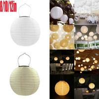 20/30cm Solar LED Chinese Lantern Light Outdoor Garden Waterproof Hanging Lamp