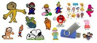 NEW TV CHARACTERS BROTHER EMBROIDERY DESIGNS ON USB DRIVE STICK PES