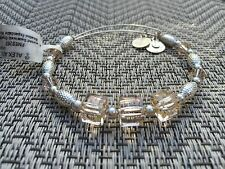 ALEX and ANI ASSORTED SWAROVSKI CRYSTAL Beaded Singles SILVER Bangle BRACELET 💎