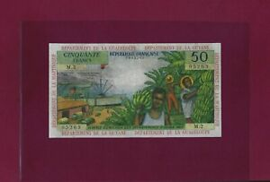 French Antilles 50 Francs 1964 P-9 VF Guadeloupe Guyane Martinique