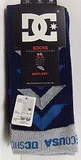DC Shoes Men's Performance Skate Socks Size 10-13 New Swift Dry Cushion Comfort