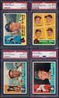 PSA 8 1960 Topps #445 Warren Spahn Milwaukee Braves HOF'er SET BREAK