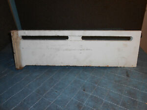 """Vintage American Radiator (A.R. & S.S.) 2' x 7"""" Left End cast iron baseboard"""