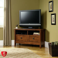 """Corner TV Stand Flat Screen Media Entertainment Console Center Cabinet 40"""" Table"""