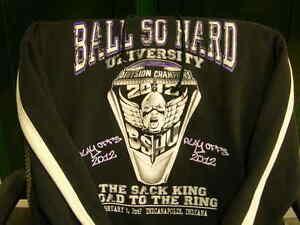 "BALTIMORE RAVENS PULLOVER HOODIE W/FRONT POCKET! ""BALLS SO HARD"" NNT!"