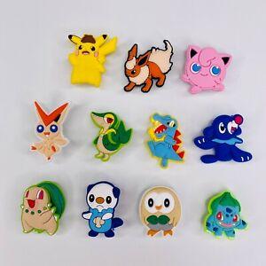 11 x Assorted Pokemon Croc Shoe Charms / Jibbitz Set For Crocs Bundle Set 3