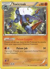 4x Pokemon Steam Siege Toxicroak 59/114  Rare Card