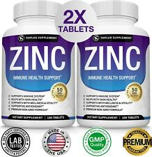 Zinc Complex 50 MG, TWO BOTTLES - Immune System Booster & Support
