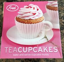Fred Tea Cup and Saucer Cake Moulds x 4 BNIB Silicone Foodies Kids Fun