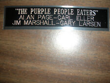 THE PURPLE PEOPLE EATERS NAMEPLATE FOR SIGNED BALL CASE/JERSEY CASE/PHOTO