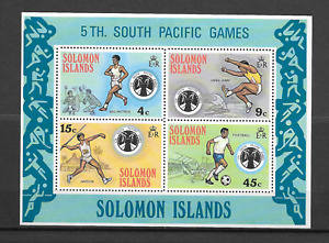 Solomon Islands 1975 The 5th South Pacific Games - MNH Minisheet Sc289-292A