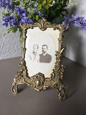 Elegant Art Nouveau Large Gold Ornate Brass Picture Frame #4455
