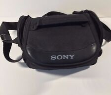 Compact Sony Camera Bag Black Nylon Adjustable Shoulder Strap Universal Small