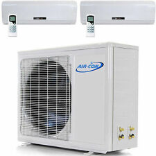 2 TON Multi Ductless Mini Split Heat Pump 24,000 BTU with  2 X 12000 Dual Zone
