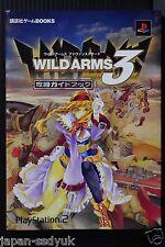 "JAPAN Wild Arms 3 / Wild Arms Advanced 3rd ""kouryaku Guide Book"""