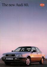 Audi 80 Saloon 1991-92 UK Market Launch 24pp Brochure 2.0 2.0E 16v 2.3E 2.8E TDi
