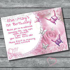 personalised  Birthday Party Princess Invitation  -12 invitations with Envelopes