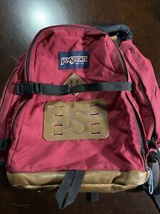 VINTAGE jansport style 70s red RUCKSACK backpack with multiple pockets