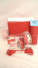 Assorted RED Ribbon Cord Mesh Christmas Holiday Gifts Decorating