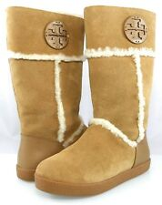 c5f5f8cd69c Tory Burch Amelie Shearling BOOTS Pull on Flat Wedge Warm Women s ...