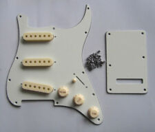 Ivory/Parchment ST Strat SSS Pickguard with Aged White Pickup Covers Knobs Tip