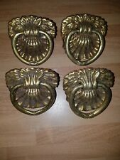 Old Solid Brass Handles X4