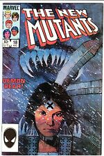 NEW MUTANTS #18 - 1st Warlock!  1st Demon Bear!  Movie!  Sienkiewicz!  VF+  1984