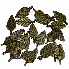 20 Antique Bronze Metal Leaf Charms Pendants 15mm Jewellery Making Findings