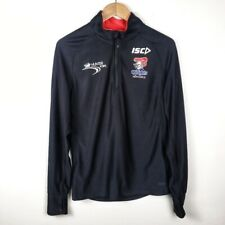 NRL AUTHENTICS Pullover Nw Castle Knights Black Long Sleeve Quarter Zip Shirt S