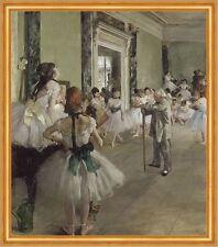 Ballettunterricht Edgar Degas Ballerina Schule Kinder Tänzerinnen B A1 01447
