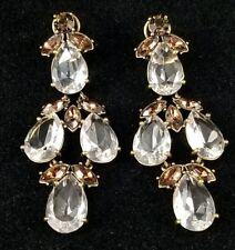 J. Crew Crystal Chandelier Statement Dangle Drop Earrings Wedding Bridal Fancy