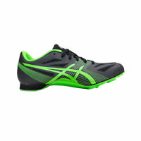Asics Men's Black With Green Hyper MD 6 Track With Tool And Box G502Y-9785