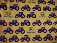 John Deere  allover Quilting Cotton Fabric BTY