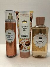 Bath & Body Works Coconut Cream Pie Mist Shower Gel Body Cream You Choose