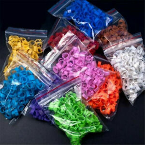 100pcs Bird Rings 8mm Leg Bands For Pigeon Parrot Clip Rings Number 001-100