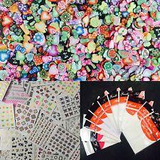 COMBO: 5 sheets Nailart Sticker + 5 manicure guide sheets + 200 pieces mix fimo.