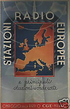 RADIOFONIA_STAZIONI RADIO EUROPEE_CGE_TELECOMUNICAZIONI_FUTURISMO_CON MAPPE
