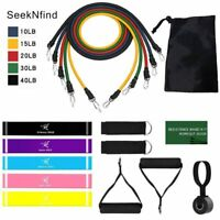 17 Pcs Latex Resistance Bands Gym home Yoga Exercise Fitness Band Rubber