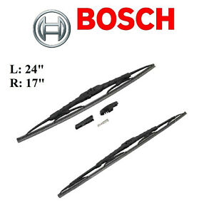 2PCS BOSCH  FRONT L&R Direct Connect Wiper Blade For ACURA TLX 2015
