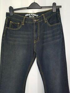 New Man Dark Blue/Black Jeans from Urban Republic W32L30/W32L32