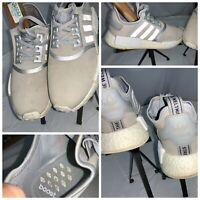 Adidas NMD R1 Sz 9 Women's Gray Boost Running shoes EUC YGI L9S-170