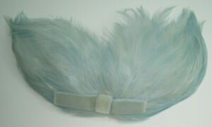 Beautiful Vintage Light Blue Feathers Hair Accessory Comb
