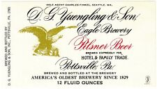 D. G. Yuengling & Son Eagle Brewery Pilsner Beer Label