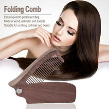 Pocket Size Wooden Moustache Comb Beard Comb Folding Hair Anti-static Hair Comb