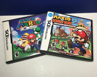 Lot of 2 Game CASES ONLY: Super Mario 64 & Mario vs Donkey Kong 2 (Nintendo DS)