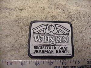 WILSON Registered Gray Brahman Ranch , Cloth Uniform / Cap Patch