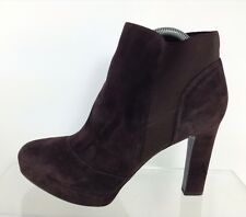 Via Spiga Womens Brown Leather Ankle Boots 10 M