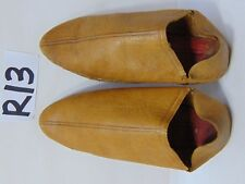 """VINTAGE CHINESE ASIAN SHOES CULTURAL LAUNDRY LEATHER 7 1/2"""" LONG MUSEUM RARE"""