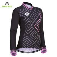 Womens Cycling Jersey Clothing MTB Bicycle Sportswear Long Sleeve Bike Shirt Top