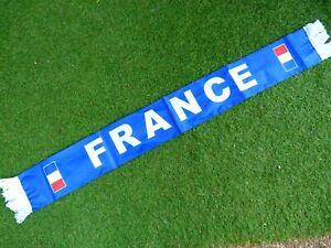 Echarpe scarf satin FRANCE FFF signée signed KYLIAN MBAPPE ultra foot